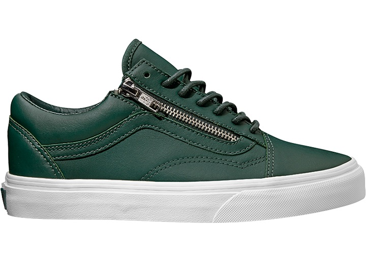 Details about Vans Trainers Trainers Casual Shoes Green Old Skool Zip Ant. Eva Sole